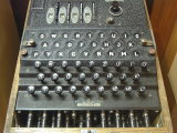 Enigma encryption machine.