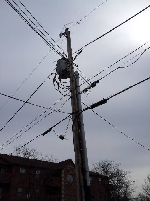 how to install a dsl line dsl and voice telco drop from the pole