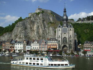 The river and cliffs at Dinant.