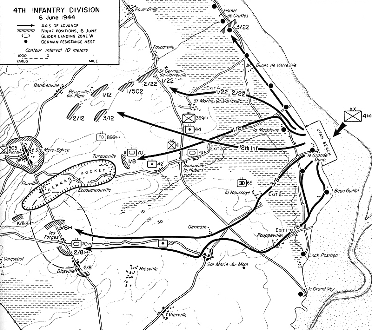 Normandy DDay June Utah Beach - Us map utah