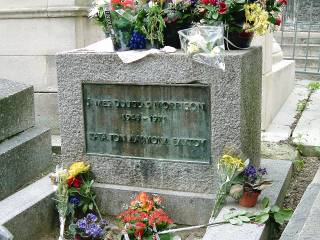 Jim Morrison's grave in Paris.