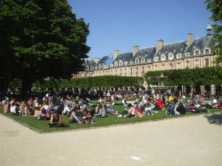 Place des Vosges in the Marais district in Paris
