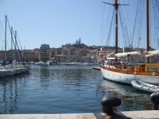 Vieux Port, the Old Port in Marseille.