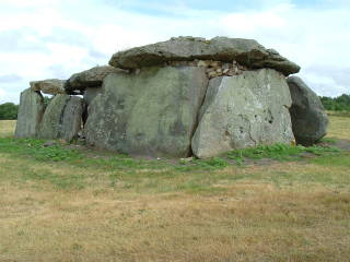 Megalithic structure near Saumur in western France.