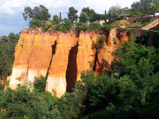 Ochre deposits at Roussillon.