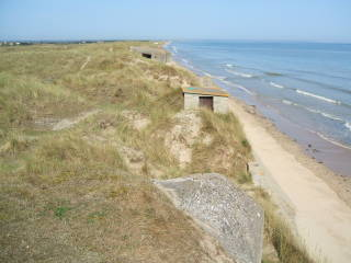 Utah Beach on the Normandy coast in France.