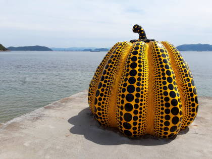 Yayoi 'Yellow Pumpkin' on the Art Island of Naoshima