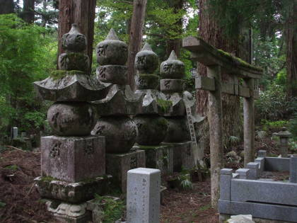 Buddhist tomb markers in the enormous Okunoin cemetery at Kōya-san.