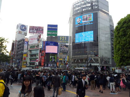 Shibuya Crossing in Tōkyō.
