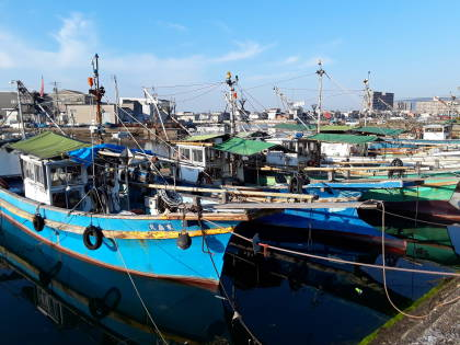 Fishing boats at Takamatsu.