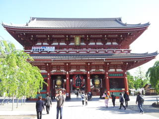 Hōzōmon, the inner gate at Sensō-ji.