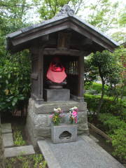 Bodhisattva with bib at Mitsumine Shrine.