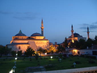 Tomb of Rumi at Konya.