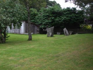 Megaliths at Pitlochry.