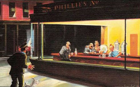 "Edward Hopper's ""Nighthawks"" in New York"