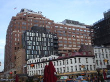 111 Eighth Avenue is a Google-owned carrier hotel, a major Internet infrastructure in New York's Chelsea district.