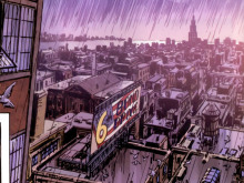 A comic book view of Manhattan.