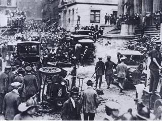 Aftermath of the Wall Street Bombing on September 16, 1920, in Manhattan.