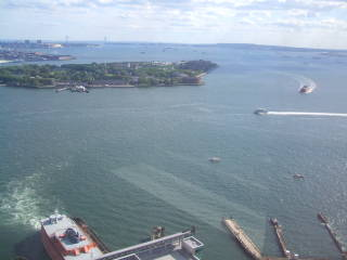 There are great views of New York Harbor and the East River from the 31st floor of New York Plaza.
