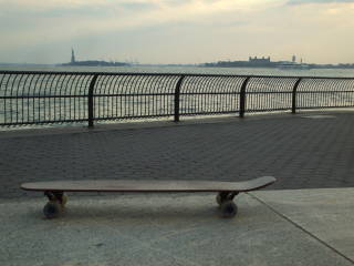 I rode a skateboard the length of Manhattan, 15.5 miles from north to south.
