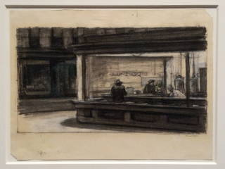 Edward Hopper based his famous 1942 Nighthawks painting on diners and coffeeshops in Greenwich Village.