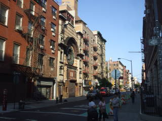 Rivington Street runs across the Lower East Side of Manhattan.