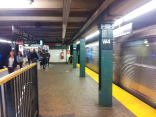 West 4th Street MTA station in Manhattan.