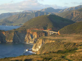 Bixby Creek Bridge on the Pacific Coast Highway in Big Sur south of San Francisco.